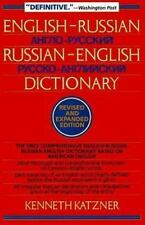 English-Russian, Russian-English Dictionary Katzner, Kenneth Paperback
