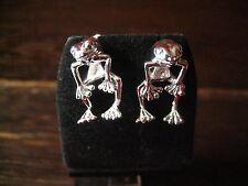 niedliche Frosch Kröte Ohrringe Stecker Ohrstecke 925er Silber neu vollplastisch