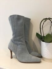 Women's Suede Duck Egg River Island Boots Uk7 EU40