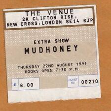 Mudhoney 1991 Concert Ticket Stub London UK Every Good Boy Deserves Fudge