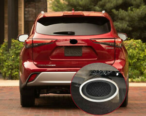 For Toyota Highlander 2020 2021 Stainless Polished Muffler Exhaust Tip Finisher
