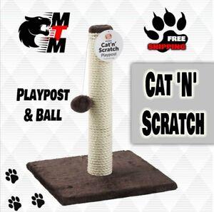 Cat 'N' Scratch Playpost & Ball | Cat fun, cat toy, treat calming cats. Scratch