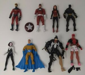 "Marvel Legends Deadpool,Sentry,Red Guardian,Black Panther 6"" Action Figure Lot"