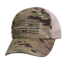 U.S. Flag Mesh Back Multicam Tactical Baseball Hat Embroidered Cap 9955