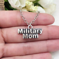 Military Mom charm NECKLACE chain military @Pendant jewellery