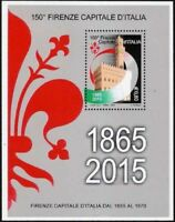 REPUBBLICA 2015 FOGLIETTO 150° FIRENZE CAPITALE D'ITALIA NUOVO MNH**