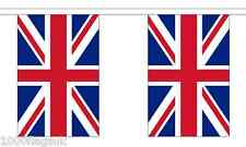 United Kingdom Union Jack Polyester Flag Bunting - 3m long with 10 Flags