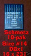Sewing needles DBx1 16x231 Industrial #14    10- pak