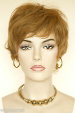 Strawberry Blonde Red Short Human Hair  Straight Wigs