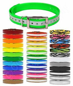 """SportDOG Replacement Dog Collar Strap 3/4"""" wide - Reflective, Solid and Patterns"""