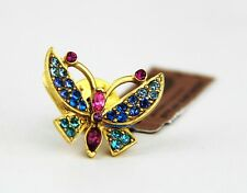 Norma Swarovski New Made In Usa Jay Strongwater Gorgeous Butterfly Tack Pin