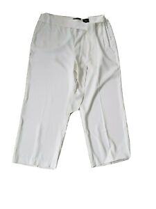 Marks & Spencer Ivory Wide luxury soft trousers NWT Size UK 20 22 wedding