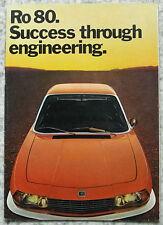 Nsu ro 80 les ventes automobiles brochure 1973-74 #0650 806 0100 110 audi