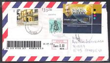 CYPRUS REGISTERED COVER Christopher Pissarides The Cypriot Nobel Prize Winner