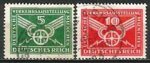 Germany (Weimar Republic) 1925 Used Munich Vehicle Exhibition Mi-370/1 SG-387/8