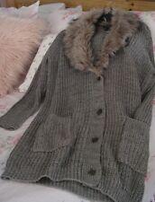 Jessica Simpson Women's 2X Heather Gray- Cardigan Sweater