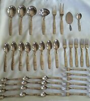 Mid-Century Vintage Silver Plate Danish ABSA Tinkerbell Flatware Cutlery Set