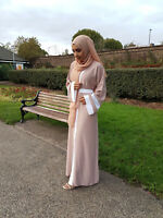 Plus Size Cardigan Dress Dubai Open Abaya Gown Muslim Women Ramadan Prayer Robe