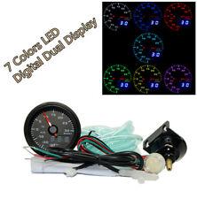 52mm Digital 7 Colors LED Car Auto Turbo Boost Gauge PSI Meter W/Sensor