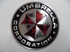 UMBRELLA Corporation, Alu 3D Sticker Auto PKW Schriftzug Aufkleber Emblem Logo