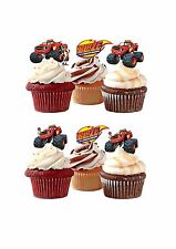 32 PRECUT BLAZE & THE MONSTER MACHINE WAFER STAND UP EDIBLE CUPCAKE CAKE TOPPERS