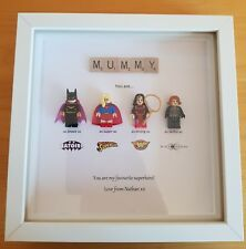 PERSONALISED MUMMY MUM AUNTIE SUPERHERO SUPERWOMEN FRAME BIRTHDAY SUPERWOMAN