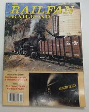 Railfan Railroad Magazine Recreating Steam February 1993 071015R