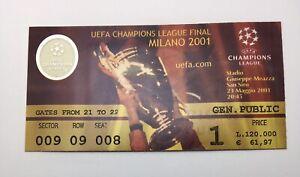 Biglietto Ticket Champions League Final Milan 2001 Bayern München Valencia