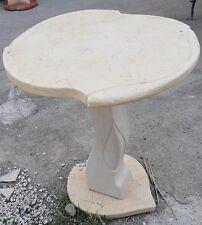 Tavolo Alberello in marmo Giallo Sole e Bianco di Orosei