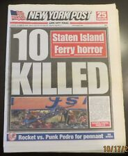 10/16/2003 - NY NEWSPAPER - STATEN ISLAND FERRY CRASHES - 10 DEAD / ALCS GAME 7