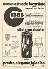 W7889 Astuccio per sapone da barba GIBBS - Pubblicità del 1933 - Old advertising