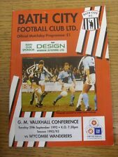 29/09/1992 Bath City V Wycombe Wanderers [Ultimo non-LEAGUE STAGIONE Wycombe] (Team