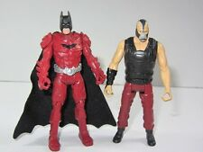 "DC Batman Cavaliere Oscuro Sorge 3.75"" TOY FIGURE SET BATMAN VS BANE"