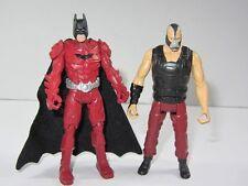 "DC  Batman 4"" Toy Figure Set  RED ARMOUR BATMAN vs BANE"