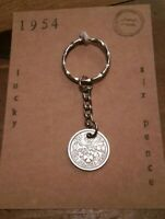 GET WELL SOON CARD MOUNT GOOD LUCK GIFT LUCKY SIXPENCE CHARM HEALTH WEALTH