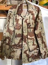 6 Color Desert Camo DCU Chocolate Chip BDU Shirt Large-Regular 50/50 New NWOT