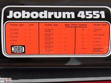 JOBO Jobodrum 4551 Papierentwicklungstrommel Format Holder 4512 + 4511