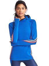 Gap GapFit Coolmax Striped Sweater, NWT, Size Medium, Bristol Blue