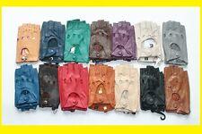 Ladies Genuine Leather Fingerless Gloves