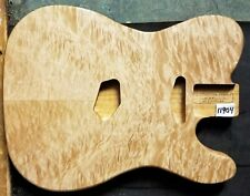 TELE STYLE GUITAR BODY BLANK 11904 LUTHIER 5A QUILTED MAPLE on Red Alder Wood