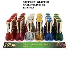 NEW SAFFRON LONDON GLITTER GALORE NAIL POLISH VARNISH MAKE 13ML