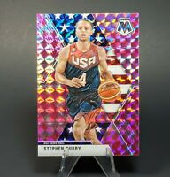 PINK HOLO Steph Stephen Curry Mosaic Card - Team USA SP - Warriors - Investment
