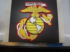 MARINE CORPS USMC JACKET PATCH SEMPER FI X-LARGE NEW EAGLE GLOBE ANCHOR 10-inch