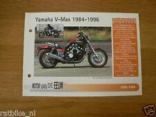MVE93- YAMAHA V-MAX 1984-96 MINI POSTER AND INFO MOTORCYCLE,MOTORRAD