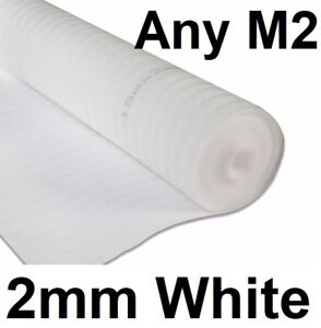 2mm White Comfort Underlay For Wood or Laminate Flooring Acoustic Insulation