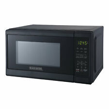 Black+Decker 700 Watt 0.7 Cubic Feet Countertop Microwave Oven, Matte Black