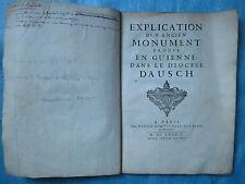 NICAISE : EXPLICATION D'UN TOMBEAU TROUVE PRES D'AUSCH, 1689 (symboles).