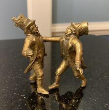 Antique English/Austrian Bronze/brass~Gentlemen In Top Hats Arguing!