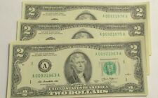 BIRTHDATE Two Dollar Bill ($2) from BEP Pack- 9/2/1963 up to 9/2/1999-perfect