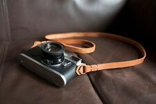 Handmade Genunie Real Leather camera strap neck strap for vintage camera brown